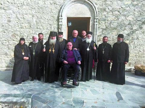Гела Церцвадзе в окружении иерархов Грузинской православной церкви