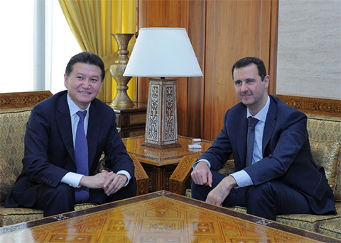 Встреча Илюмжинова и Асада в Дамаске в 2012 году