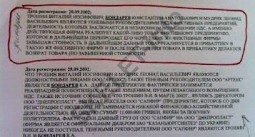 НДС Бондарев