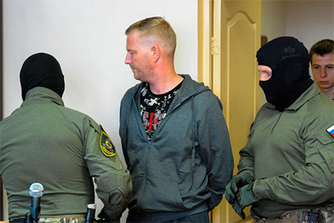 Антон Бахаев на суде