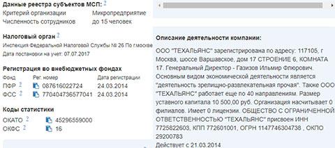 «Зрелищно-развлекательная» фирма с уставным капиталом 10 500 рублей не имеет филиалов и лицензии