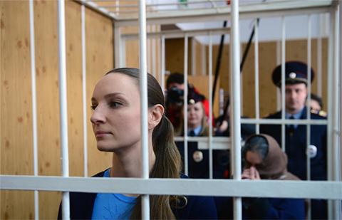 Екатерина Глушакова и Лариса Маркус в суде