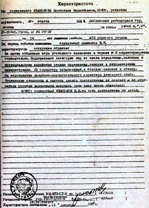 Характеристика на Иванькова