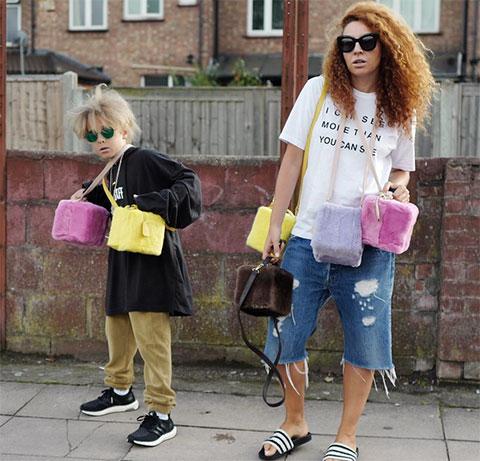 Наталья Зинько, дизайнер и жена Владимира Галантерника (на фото — слева), живет с мужем и сыном (на фото — справа) в Лондоне