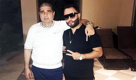 Слева: вор в законе Армен Казарян и армянский певец Супер Сако
