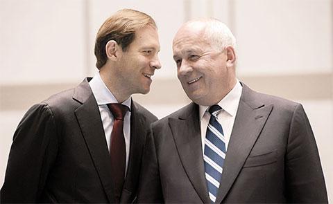 Слева: Денис Мантуров и Сергей Чемезов