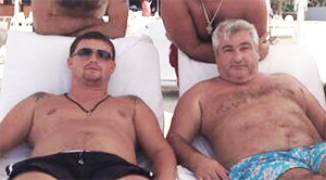 Слева воры в законе: Жаринов Виктор Николаевич Цезарь и Вагин Владимир Викторович Вагон