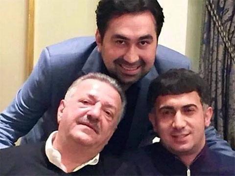 Внизу слева: Тельман Исмаилов и вор в законе Ровшан Джаниев (Ленкоранский)